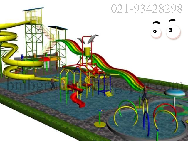 design waterboom , waterpark , wahana air , pembuatan seluncuran fiber
